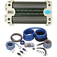 Rockville RFC30F 30 Farad Voltage Display Capacitor+100% OFC Amp Kit