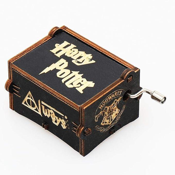 Antique style Harry Potter Caja De Música De Navidad De Niñas 18 Tallado En Láser Artesanal Cumpleaños Día De San Valentín: Amazon.es: Hogar
