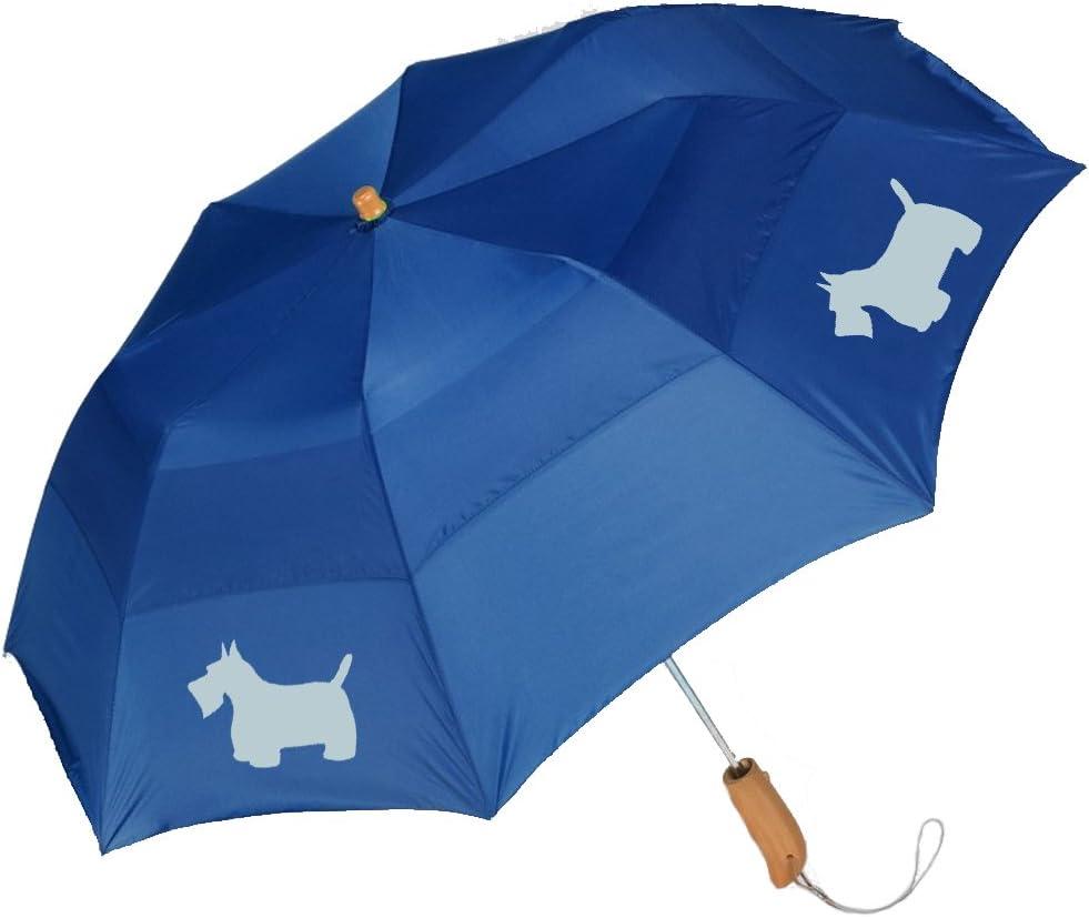 Peerless 43 Arc auto open folding umbrella with/ScottishTerrier Silhouette