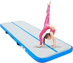 """AECOJOY Air Inflatable Track 10ft/13ft/16ft/20ft Gymnastics Training Mat 4"""" Thickness Tumbling Track Mats for Home Use/Training/Gym/Tumble/Water"""