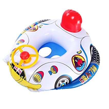 allbesta bebé infantil inflable natación barco Toddler Seguridad Ayuda flotador asiento cuerno, volante y aro
