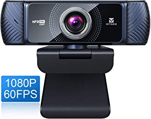 Webcam 1080P 60fps with Microphone for Streaming, Vitade 682H Pro HD USB Computer Web Camera Video Cam for Gaming Conferencing Mac Windows Desktop PC Laptop Xbox Skype OBS Twitch YouTube Xsplit