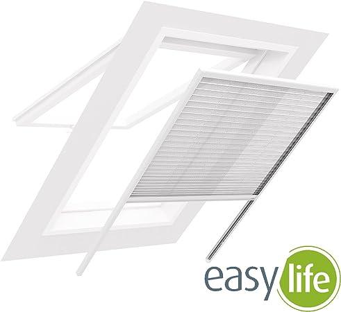 Insektenschutz Alu Dachfenster Plissee Fliegengitter für Fenster Ihr Dachfenster