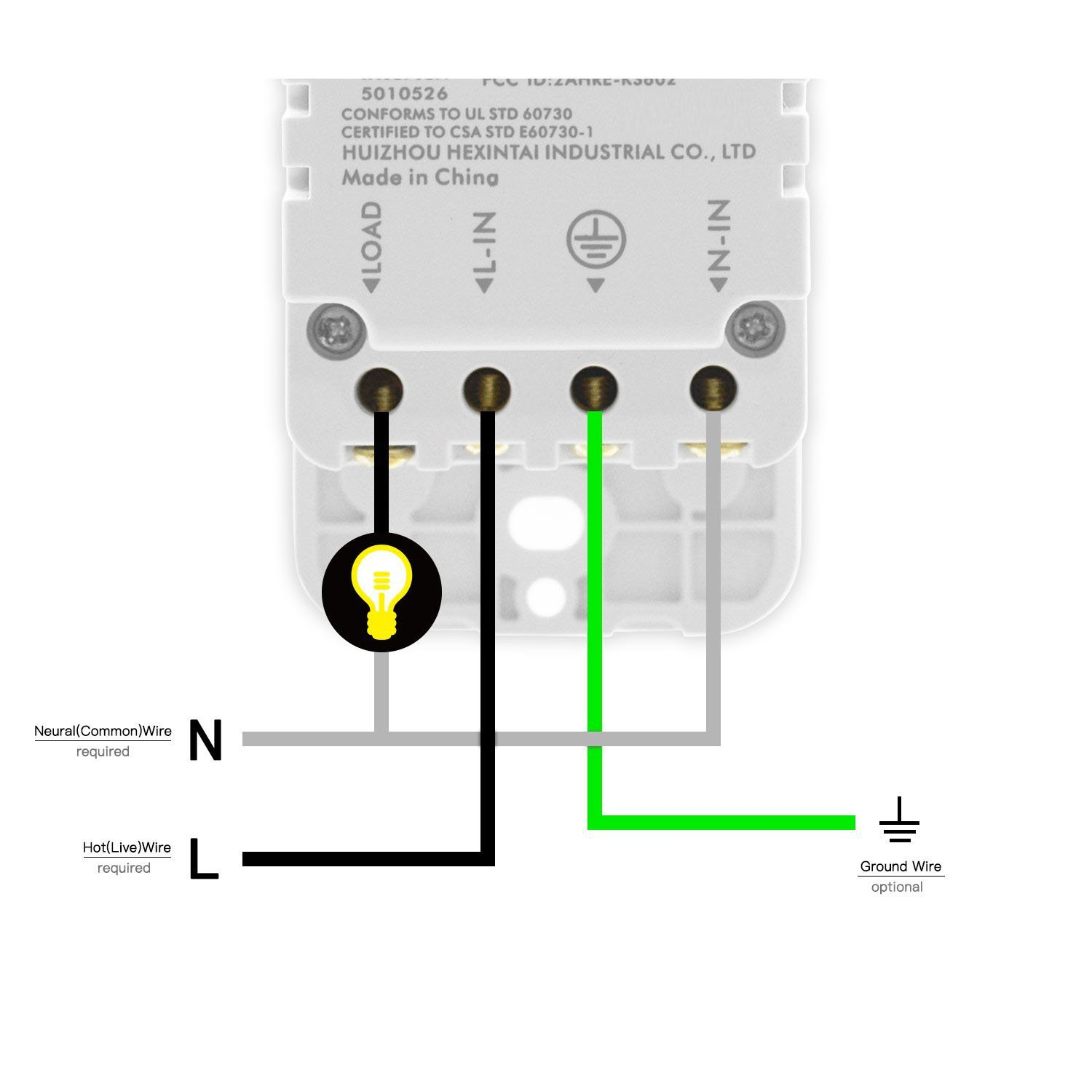 Smart Light Switch Wifi Touch Wall 1 Gang Compatible Wiring A With Alexa Google Home And