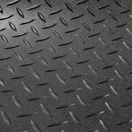 RV Trailer Diamond Plate Pattern Flooring | Black | 8