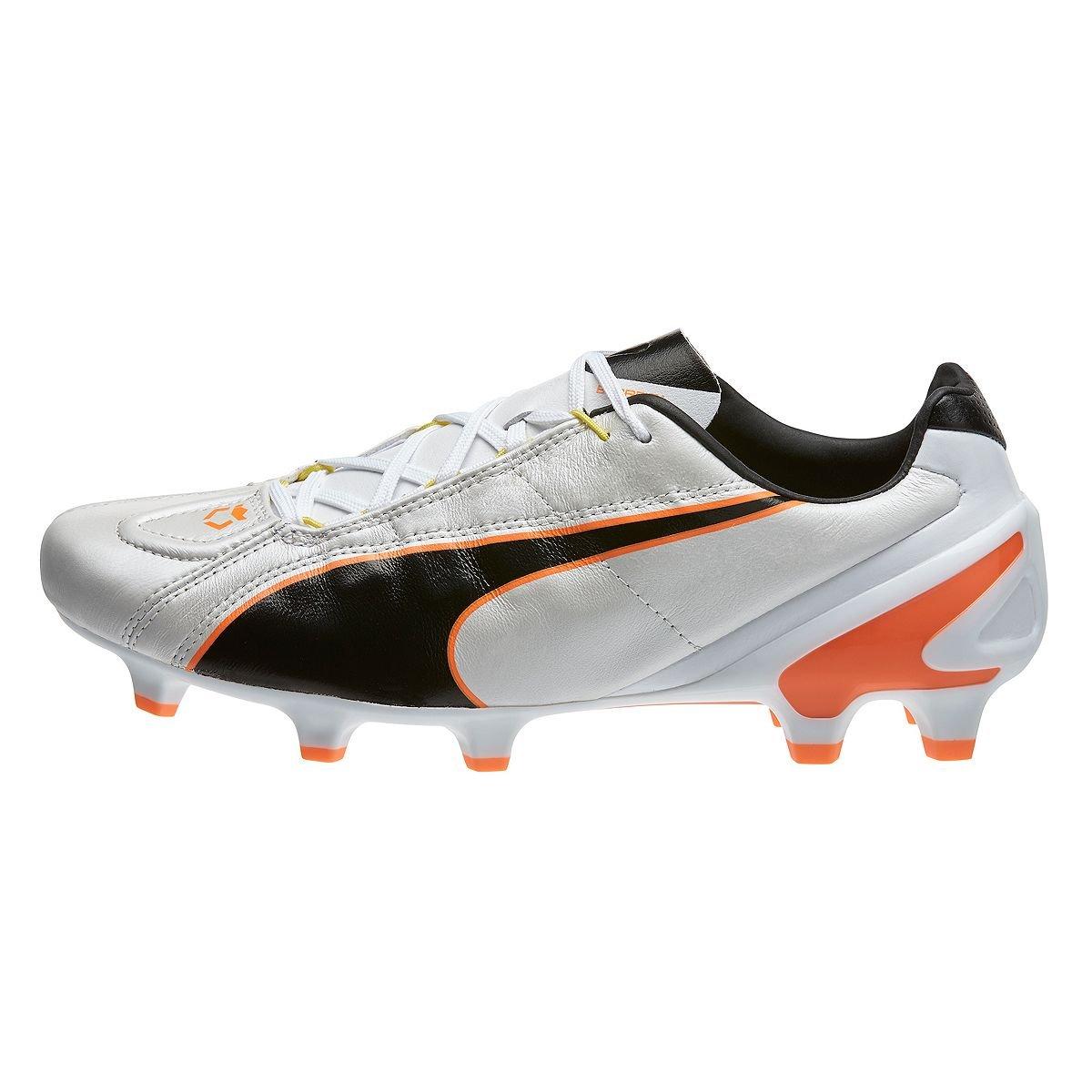 Puma King II EF + FG Soccer Cleats B00QNTU9A8 11|White-Black-Fluo Flash Orange White-Black-Fluo Flash Orange 11
