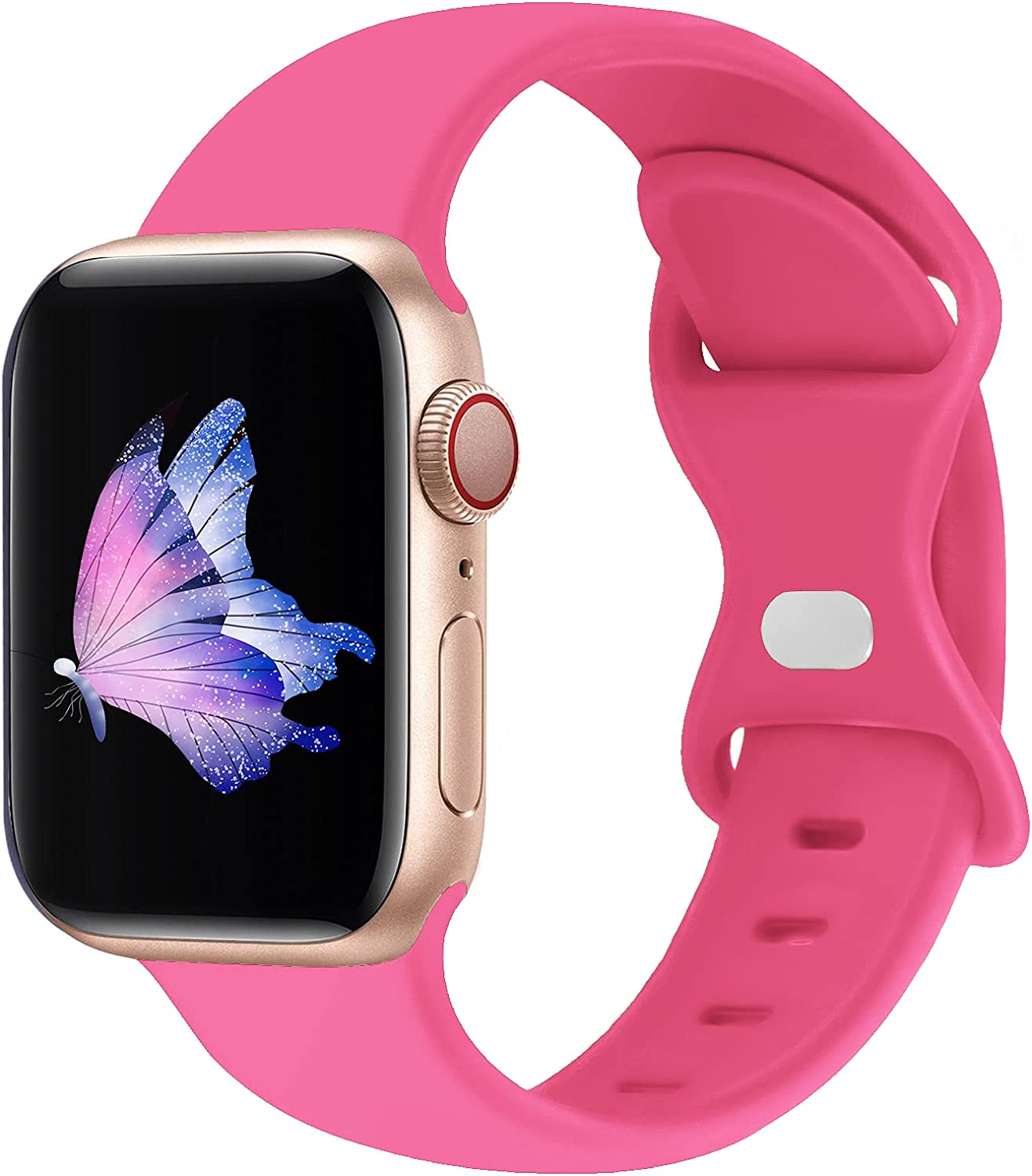 SinceC Sport Bands Compatible with Apple Watch Band 38mm 40mm 42mm 44mm S/M M/L for Women/Men Waterproof Soft Silicone Replacement Strap Accessories for iWatch Series 6/5/4/3/2/1/SE