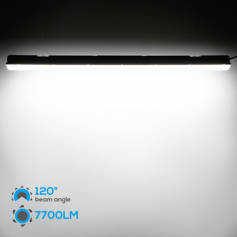 5000K 7700lm LEONLITE Waterproof IP65 70W LED Vapor Proof Fixture CRI80