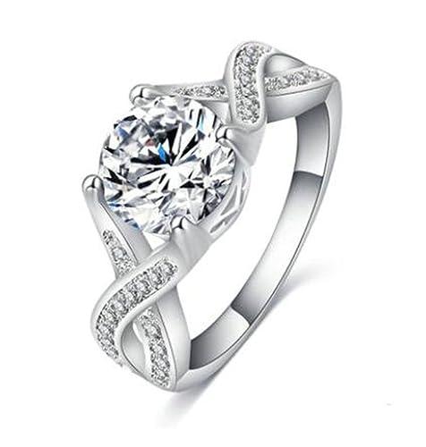 Alimab joyería señoras de la mujeres de Amor anillos anillos bodas anillos de plata cruzados plata