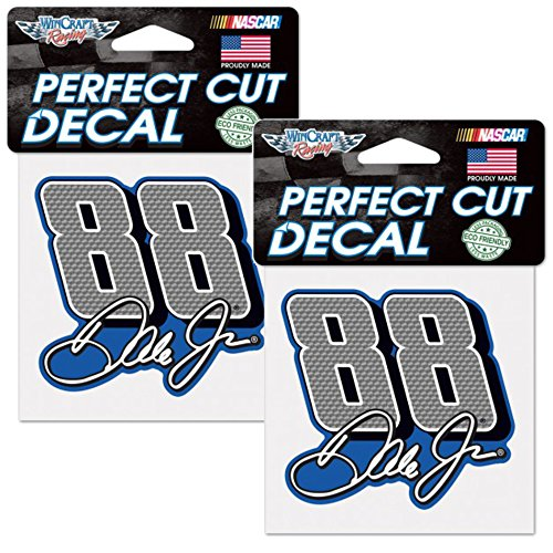 "Dale Earnhardt, Jr. NASCAR 4"" x 4"" Logo Decals - 2 Pack"