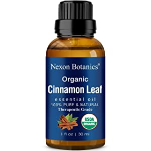 Organic Cinnamon Essential Oil 30 ml - Essential Oil Cinnamon for Sinus, Seasonal Congestion, Cold and Cough Symptoms - Soothes Muscle Pain - For DIY Skin and Hair Care Recipes - Nexon Botanics