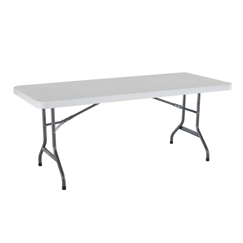 Amazon.com: Lifetime 22901 Folding Utility Table, 6 Feet, White Granite:  Garden U0026 Outdoor