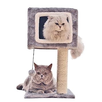 Árbol del gato Pet Cat Climbing Tree Doble puerta contra la pared ...