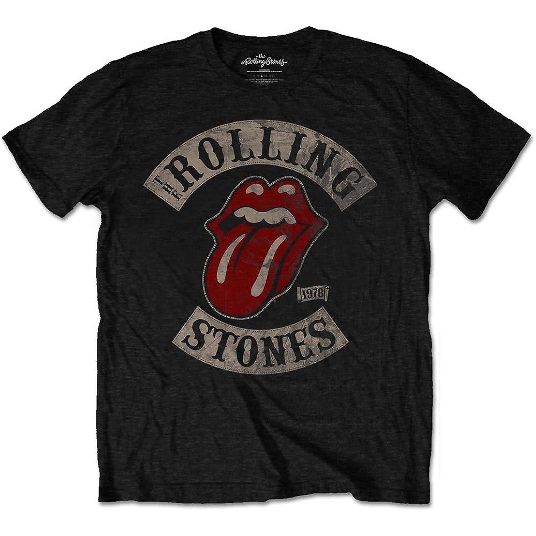 b060c5d267b0 Amazon.com: Rolling Stones Men's Tour 78 T-shirt Black: Clothing