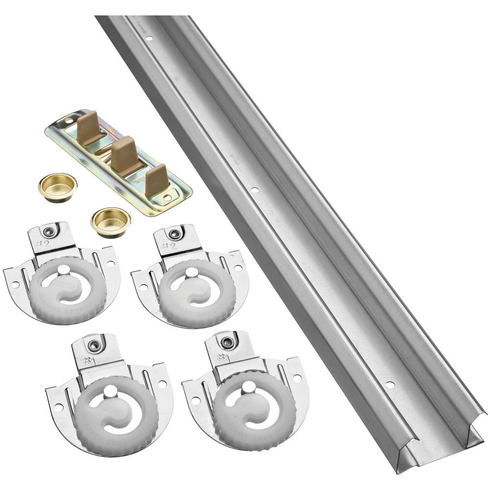 National Hardware N343-079 770D By-Passing Door Hardware  in Galvanized