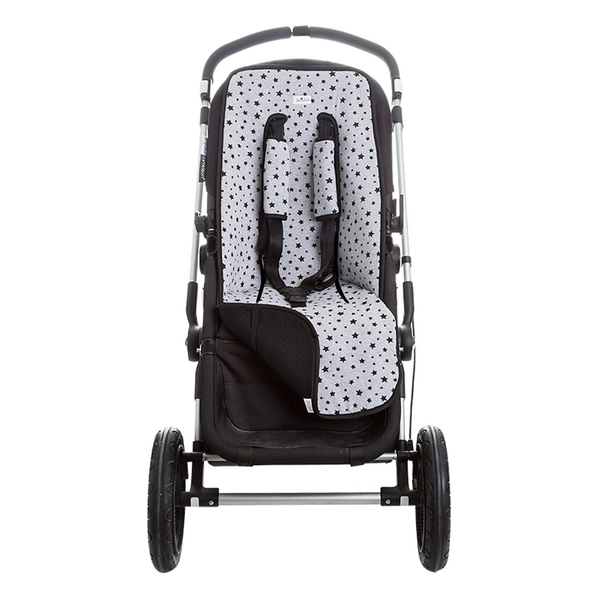 Janabebé Universal Cover Pushchair Luxury Foam + Protection Harnesses (Inglesina, Cibex, Bugaboo and More) (Black Star)