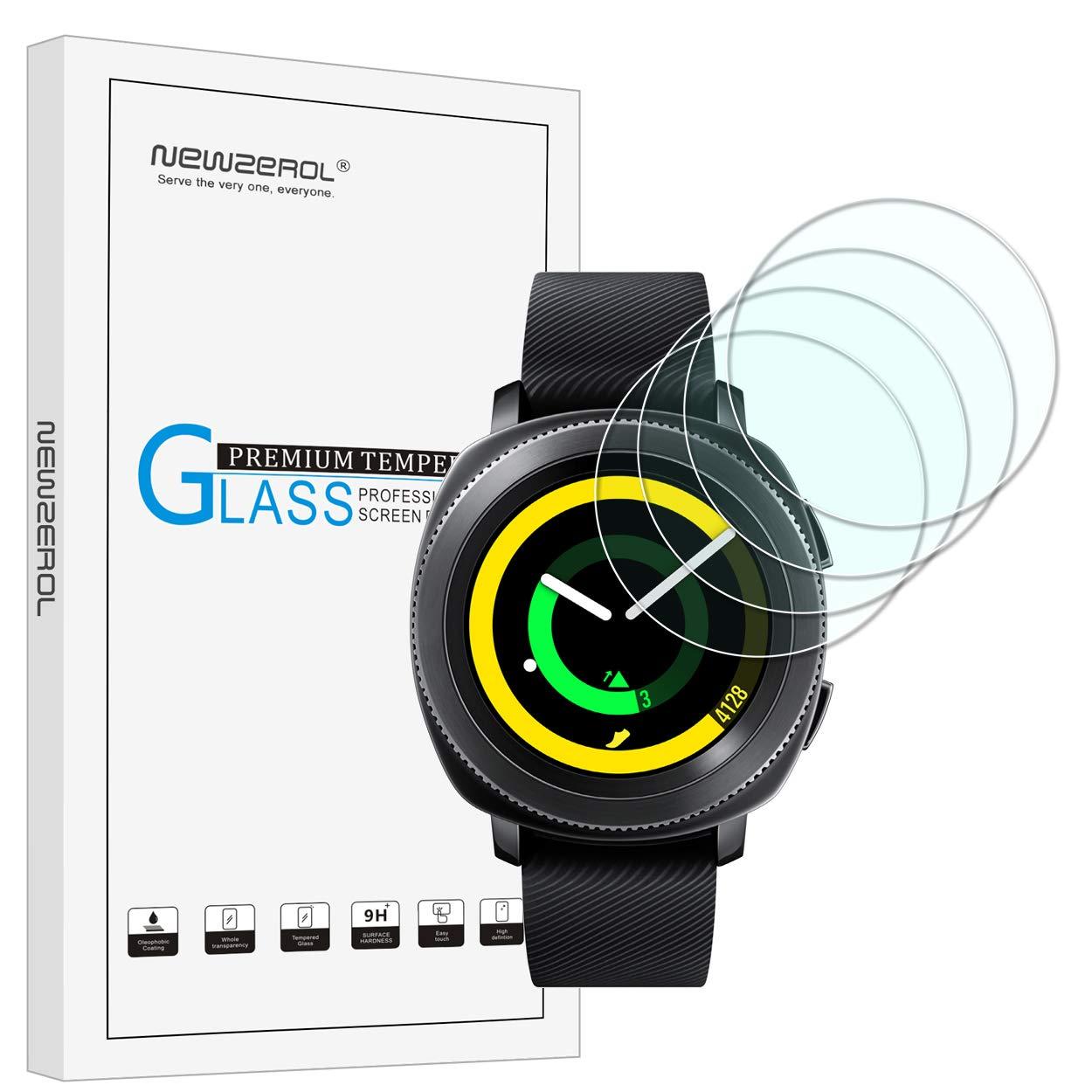 Garmin v/ívosport Screen Protector Glass 2-PACK Maxhood 9H Hardness 0.3mm Ultra-Thin 2.5D Round Edge Tempered Glass Screen Protector for Garmin v/ívosport