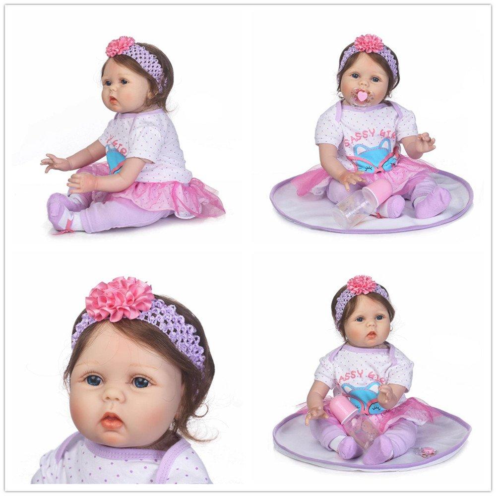 Amazon.es: NPKDOLL 22 Pulgadas Realista Renacer Muñecos bebé de ...
