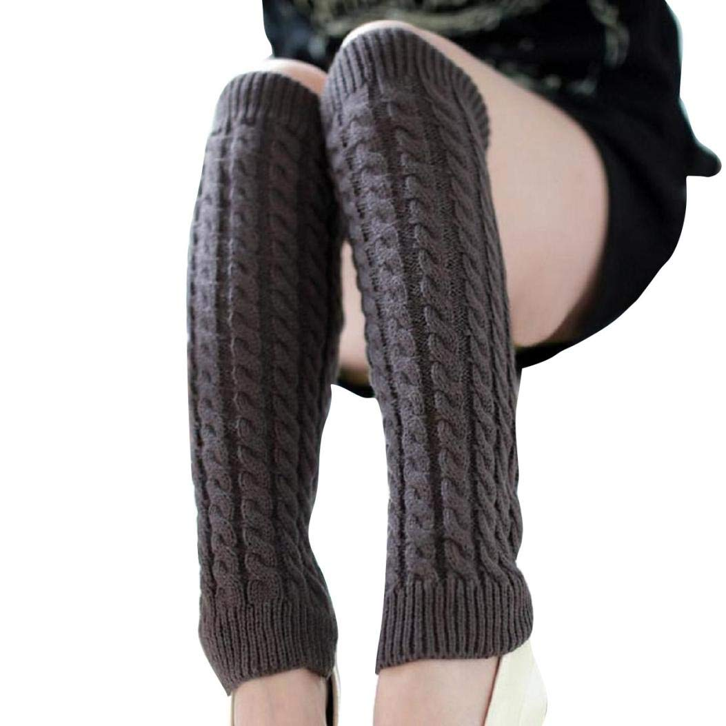 Women's Socks, VECDY Clearance-Fashion Women Winter Warm Leg Warmers Solid Comfortable Knitted Crochet Long Socks Women' s Socks VECDY-4