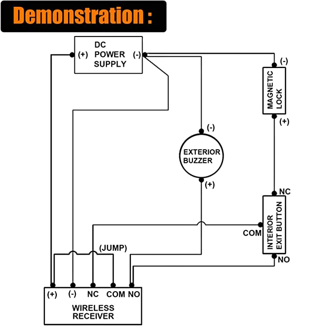 amazon com hwmate access control system kit with 1200lbs ul listed rh amazon com Arduino Buzzer Circuit Diagram Simple Buzzer Circuit Diagram