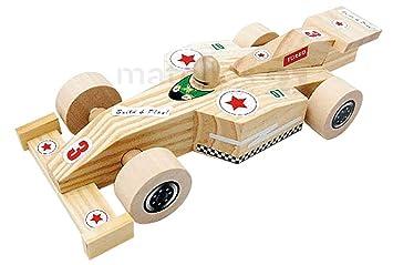 Rennauto F1 aus Holz Holzspielzeug BIO Bauernhof