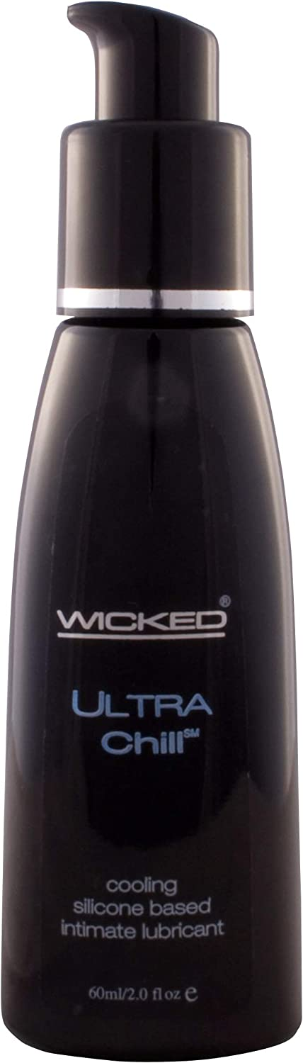 Wicked Aqua Ultra Chill Cooling 2 Fl Oz Waterbased Flavored Lubricant by Wicked Sensual Care Collection