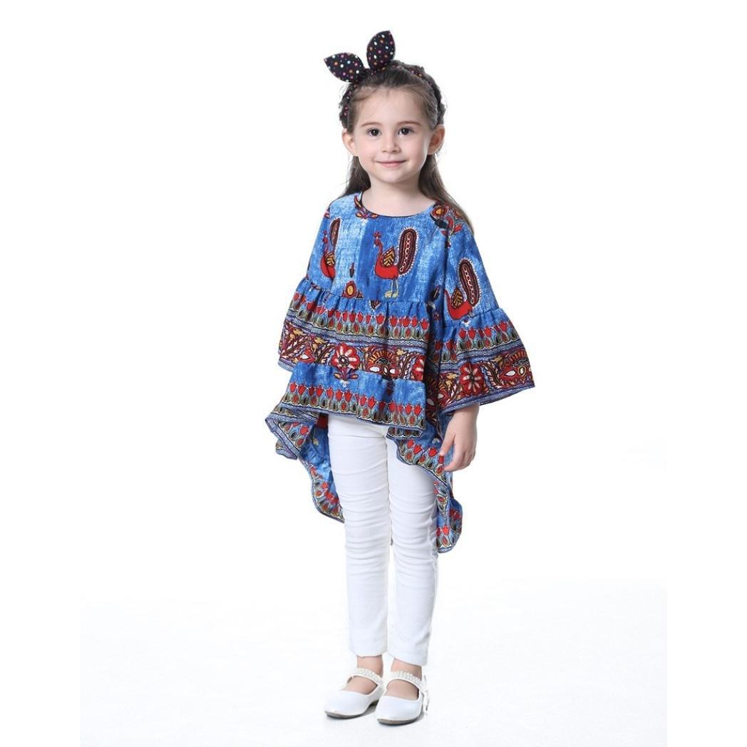 ❥Elecenty Prinzessin Baby Kleid,Kinder Mädche Kleider Pfau-Druck ...