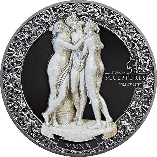 2020 PW Eternal Sculptures PowerCoin TRE GRAZIE 2 Oz Silver Coin 10$ Palau 2020 Proof from Power Coin