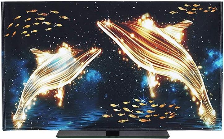 YXZN Estéreo 3D TV Cubierta de Polvo a Prueba de Agua Pantalla LCD Universal Colgando Cubierta Colorida de la TV decoración del hogar,Black,65: Amazon.es: Hogar