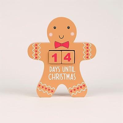 Bonhomme en pain d'épices de Noël Calendrier de l'Avent Compte à rebours Block