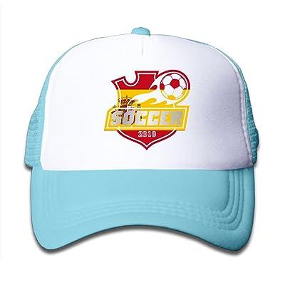 2018 Soccer Spain Child Baby Kid Mesh Caps Adjustable Trucker Hats Summer Snapback