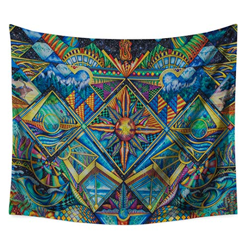 - Psychedelic Tapestry , Abstract Unusual Figure with Color and Form Details Hippie Arabesque Retro Pattern, Wall Hanging for Bedroom Living Room Dorm(CS-BS12-03)