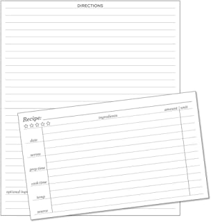 """product image for Rite In The Rain Weatherproof Recipe Cards, 6"""" x 5"""", 2-Sided, 100# Card-stock Paper, 50 Pack (No. RC35), White"""