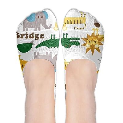 ec34f2234a24 Cartoon Critter Womens Casual No Loader Socks Cotton Ankle Socks For School