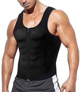 Mens Neopren Weste Sauna Ultra Thin Sweat Shirt Body Shaper Abnehmen Korsett f/ür Weight Loss