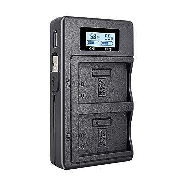Palo LP-E17 LCD Dual USB Cargador de batería Adecuado para Canon ...