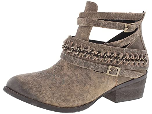 Fishtail Women's Braided Ankle Booties