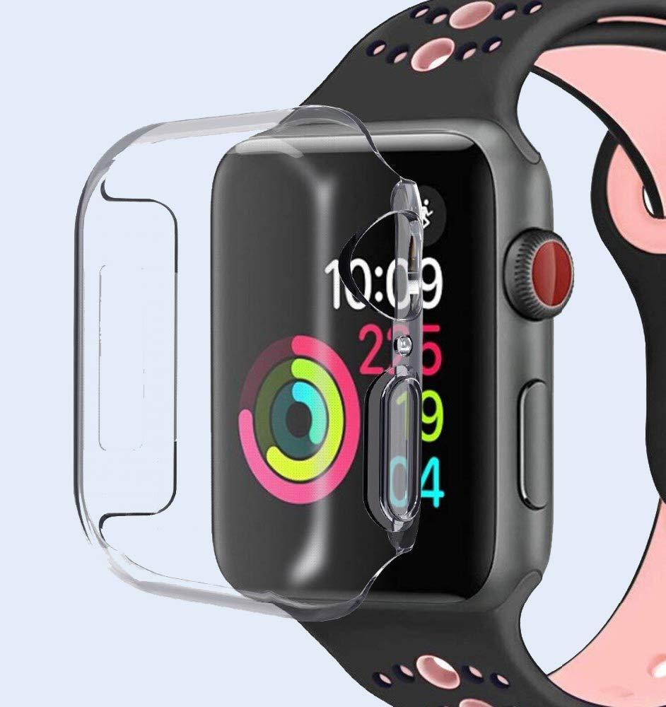 gmov Funda Apple Watch 4, 44mm Transparente, Funda Protector de Pantalla TPU Suave Delgado Protectora Carcasa para Reloj Apple Watch Series 4(no ...