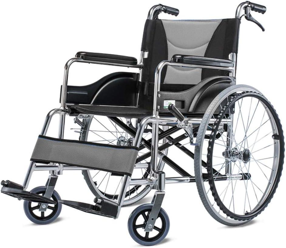 Silla de Ruedas Silla de Ruedas de aleación de Aluminio Silla de Ruedas Plegable Ultraligera Silla de Ruedas Manual Ancianos discapacitados Empuje Manual Scooter (Color : C)