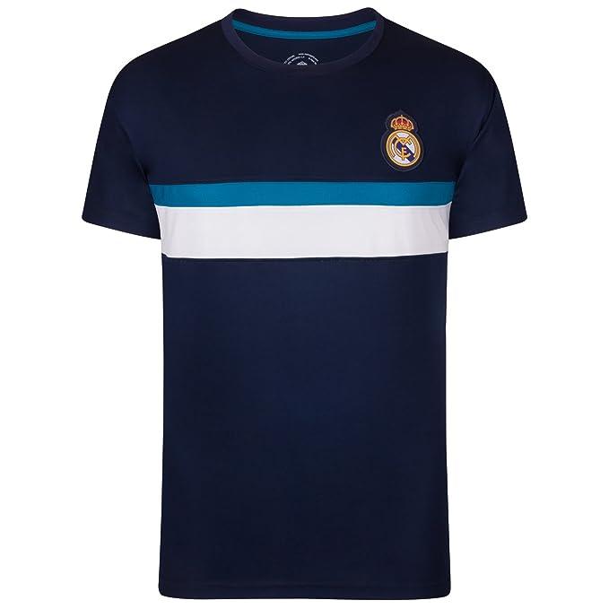 Real Madrid - Camiseta Oficial para Entrenamiento - para Hombre -  Poliéster  Amazon.es  Ropa y accesorios 5d884564b1f91