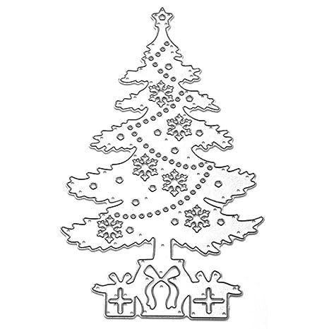 SELUXU Precioso patrón de árboles de Navidad Acero al Carbono Grabado en Relieve Troqueles de Corte