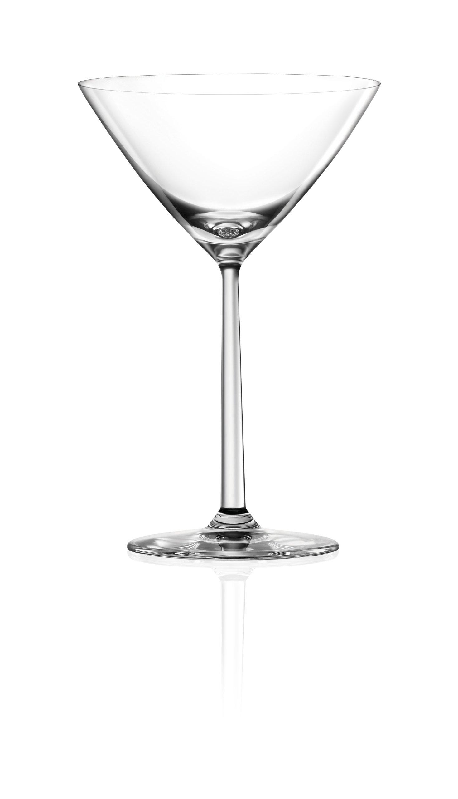 Lucaris Shanghai Soul Martini Glass, 7.8-Ounce, Set of 4 by Lucaris