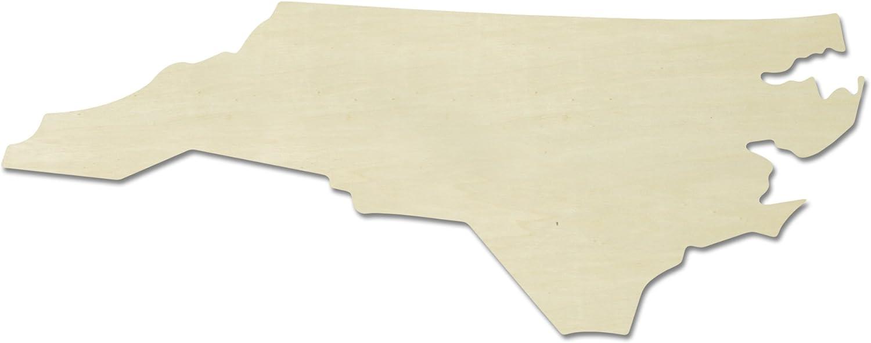 """UNFINISHEDWOODCO Unfinished State Wood Cutouts, """"North Carolina"""""""