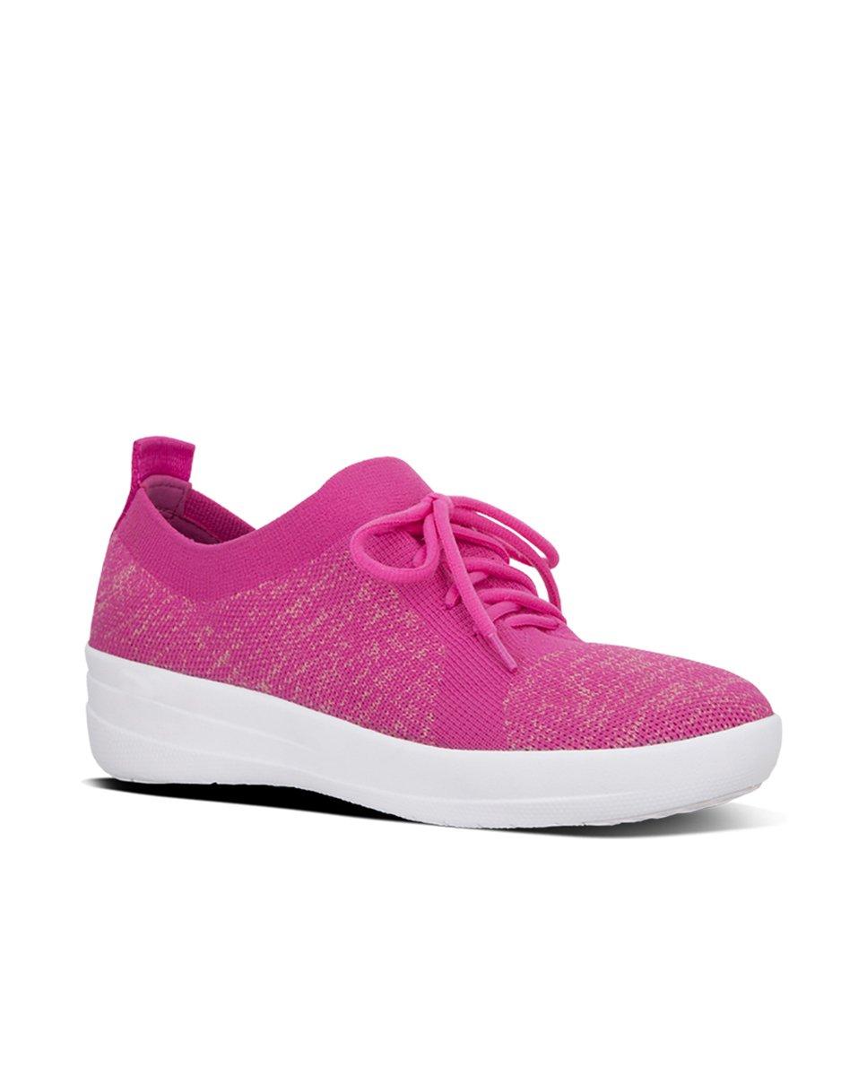FitFlop F-Sporty Uberknit Sneakers 3 UK Fuchsia / Dusky Pink