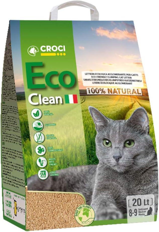 Croci Cat Litter Eco Limpio, 20 L: Amazon.es: Productos para mascotas