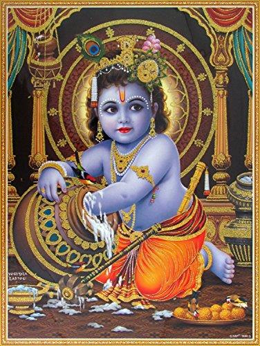 Lord Krishna / Shree Krishna / Baby Krishna / Bal Krishna / Sri Krishna Poster 12 x 18 inch Rolled ()