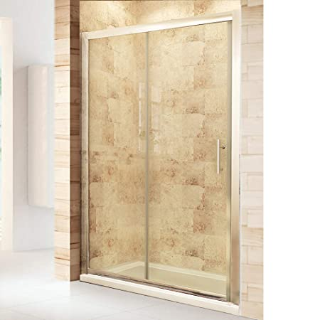 1500 X 900mm Sliding Shower Enclosure 6mm Safety Glass Screen Door Cubicle With Tray Waste