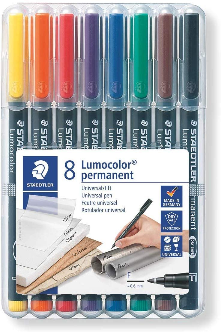 Lumocolor 318-9WP4HZ Folienstift Staedtler permanent 4 Stück in aufstellbarer