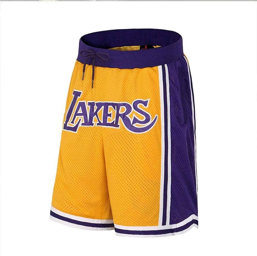 Pantalones Cortos De Rendimiento De Baloncesto Jersey Inferior Pantalones Cortos James Lakers para Hombre Pantalones Cortos Deportivos Dobles De Verano Baloncesto Sueltos Ocasionales