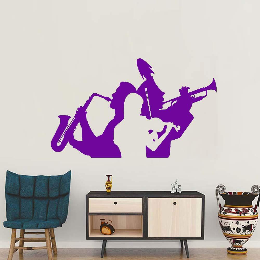 guijiumai Músico Saxofón Trompeta Violín Tatuajes de Pared ...